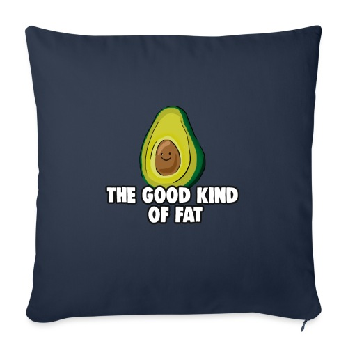 Avocado: The Good Kind of Fat - Sofa pillowcase 17,3'' x 17,3'' (45 x 45 cm)