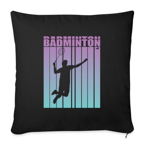 Badminton Jump Smash - Sofa pillowcase 17,3'' x 17,3'' (45 x 45 cm)
