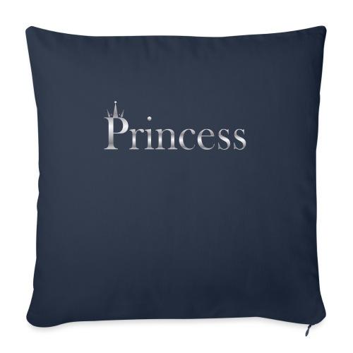 Princess silver - Sofa pillowcase 17,3'' x 17,3'' (45 x 45 cm)