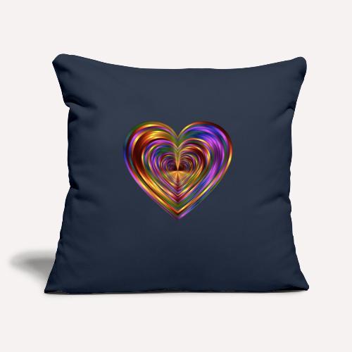 Colorful Love Heart Print T-shirts And Apparel - Sofa pillowcase 17,3'' x 17,3'' (45 x 45 cm)