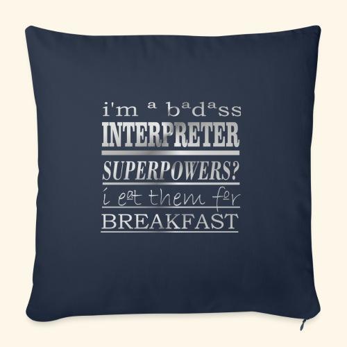 INTERPRETER - Copricuscino per divano, 45 x 45 cm