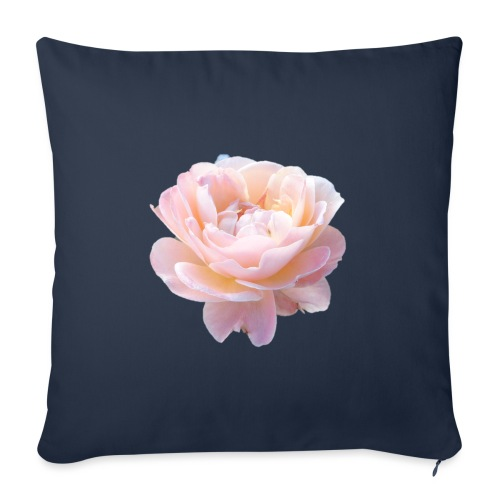 A pink flower - Sofa pillowcase 17,3'' x 17,3'' (45 x 45 cm)