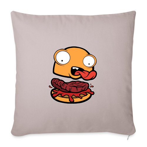 Crazy Burger - Funda de cojín, 45 x 45 cm