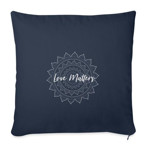 Love Matters white Mandala - Sofakissenbezug 44 x 44 cm