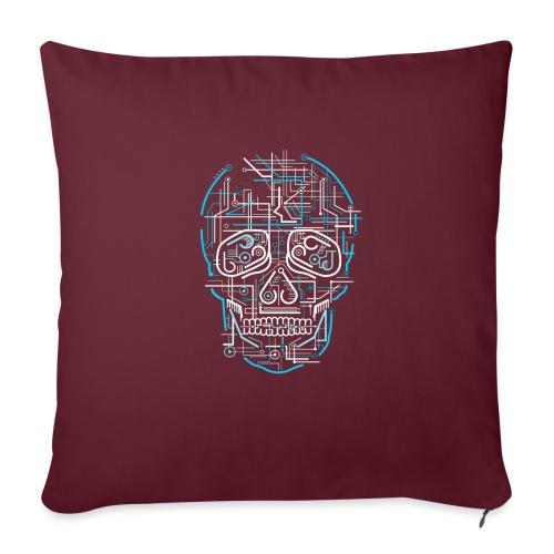 electric skull tshirt ✅ - Sofakissenbezug 44 x 44 cm