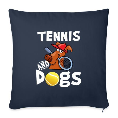 Tennis And Dogs Funny Sports Pets Animals Love - Sofakissenbezug 44 x 44 cm