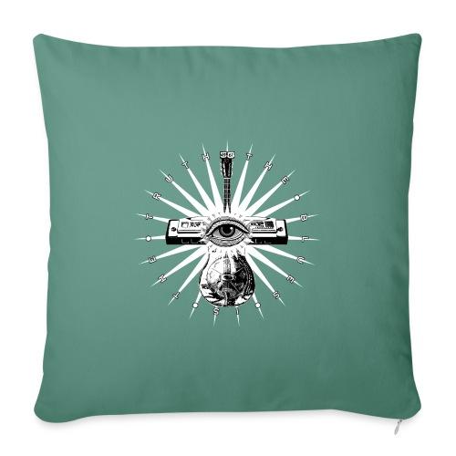 Blues Is The Truth - white star - Sofa pillowcase 17,3'' x 17,3'' (45 x 45 cm)