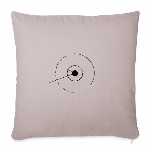 cercles et angles - Housse de coussin décorative 45x 45cm