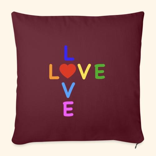 Rainbow Love. Regenbogen Liebe - Sofakissenbezug 44 x 44 cm