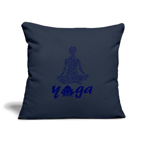 yoga fiore namaste pace amore hippie arte fitness - Copricuscino per divano, 45 x 45 cm