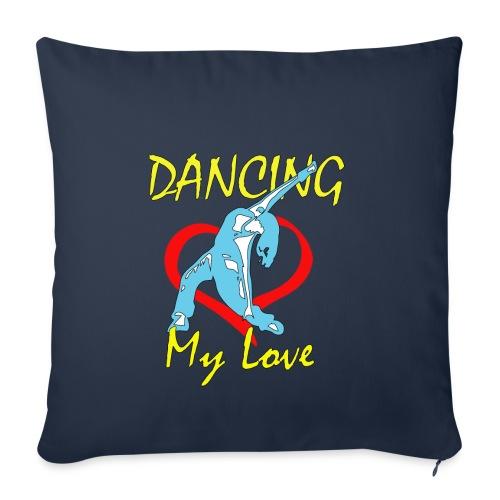 Dancing my Love HBlau - Sofakissenbezug 44 x 44 cm