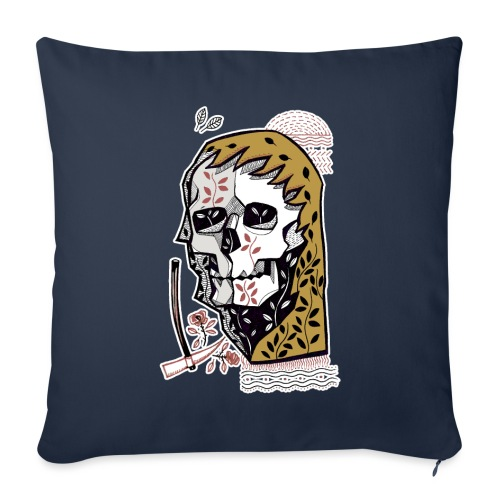 skull - Copricuscino per divano, 45 x 45 cm