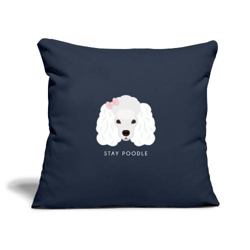 Poodle White - Copricuscino per divano, 45 x 45 cm