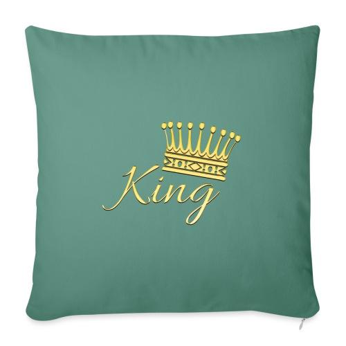 King Or by T-shirt chic et choc - Housse de coussin décorative 45x 45cm