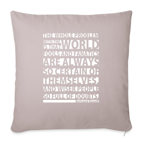 The Whole Problem with the World - Sofa pillowcase 17,3'' x 17,3'' (45 x 45 cm)