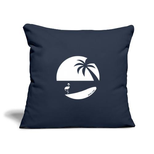 Logo French Floridian blanc - Housse de coussin décorative 45x 45cm