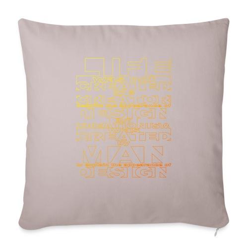 CREATIONISM was CREATED - Sofa pillowcase 17,3'' x 17,3'' (45 x 45 cm)