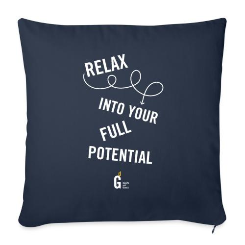 Relax into your full potential I v2 - Sofa pillowcase 17,3'' x 17,3'' (45 x 45 cm)