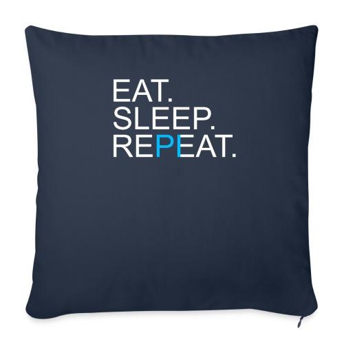 Eat Sleep Repeat PI Mathe Dunkel - Sofakissenbezug 44 x 44 cm