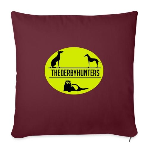 the derby hunters-yellow - Sofa pillowcase 17,3'' x 17,3'' (45 x 45 cm)