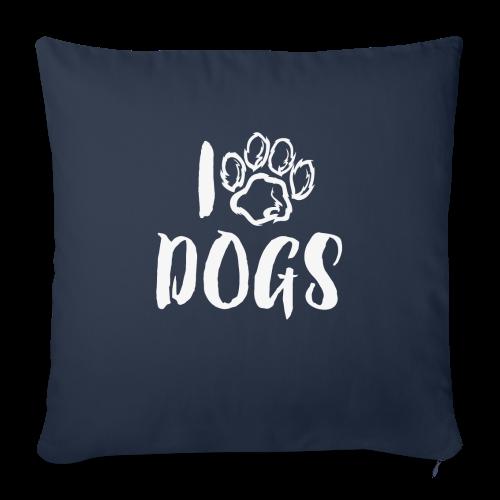 I LOVE DOGS / AMO A LOS PERROS - Funda de cojín, 45 x 45 cm