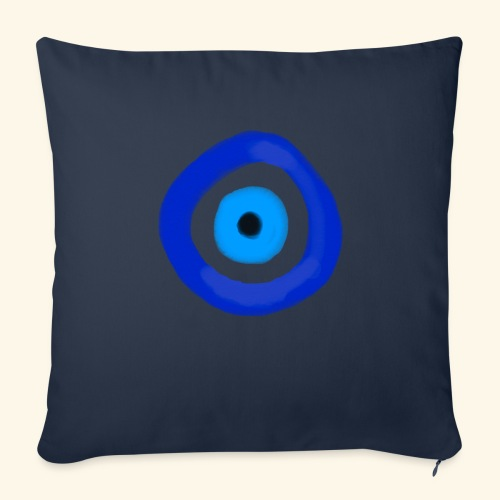 Blue evil eye Water Colour - Soffkuddsöverdrag, 45 x 45 cm