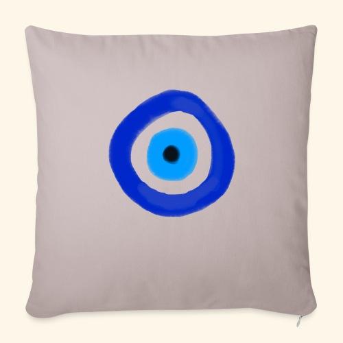 Blue evil eye Water Colour - Soffkuddsöverdrag, 45 x 45 cm
