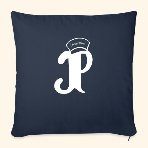 Jimini Prod' Logo Blanc - Housse de coussin décorative 45x 45cm