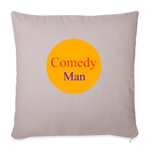 comedy man logo - Sierkussenhoes, 45 x 45 cm
