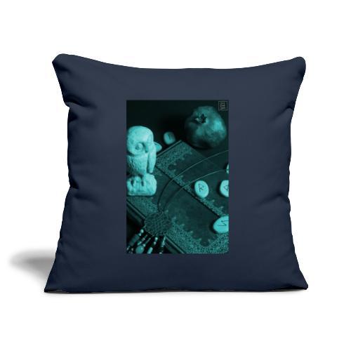 La Civetta della Sapienza - Copricuscino per divano, 45 x 45 cm
