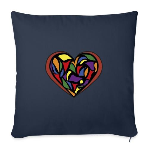 cuore di vetro - Copricuscino per divano, 45 x 45 cm