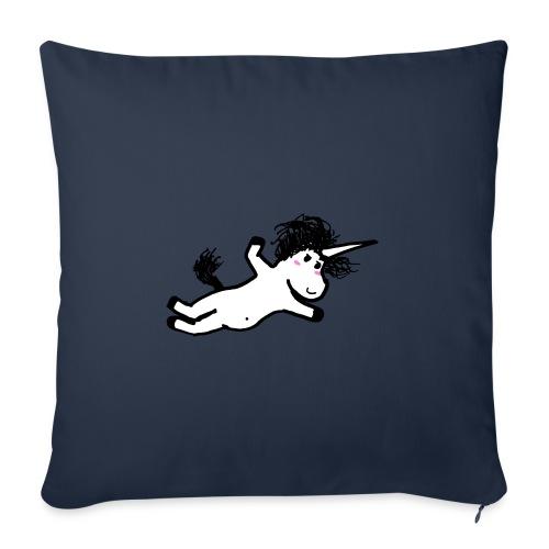 unicorno che si lancia sul nulla - Copricuscino per divano, 45 x 45 cm