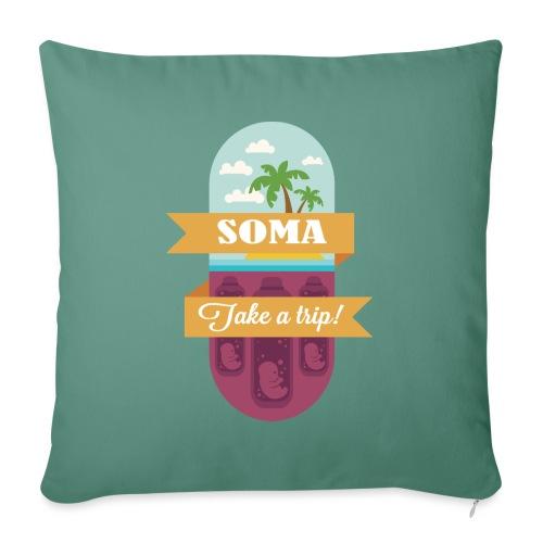 Soma - Il mondo nuovo - Aldous Huxley - Copricuscino per divano, 45 x 45 cm