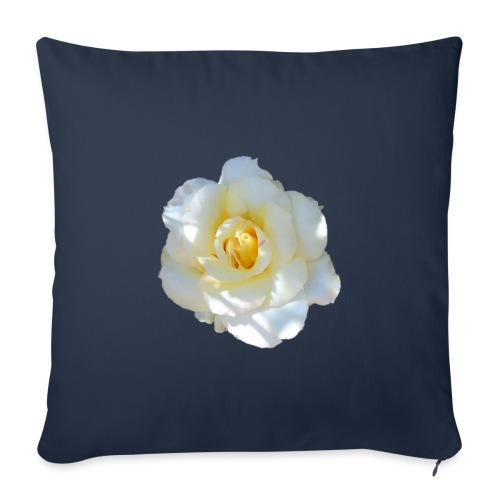 A white rose - Sofa pillowcase 17,3'' x 17,3'' (45 x 45 cm)
