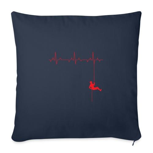 Love Rappelling ECG - Sofa pillowcase 17,3'' x 17,3'' (45 x 45 cm)