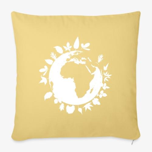 leaf globe white - Soffkuddsöverdrag, 45 x 45 cm