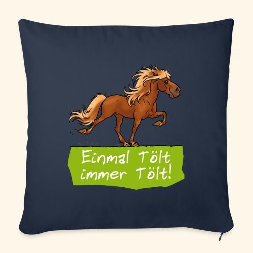 Island Pferd Tölt - Housse de coussin décorative 45x 45cm