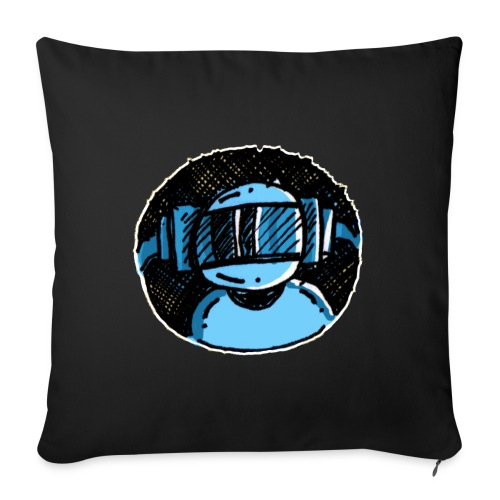 Machine Boy Blue - Sofa pillowcase 17,3'' x 17,3'' (45 x 45 cm)