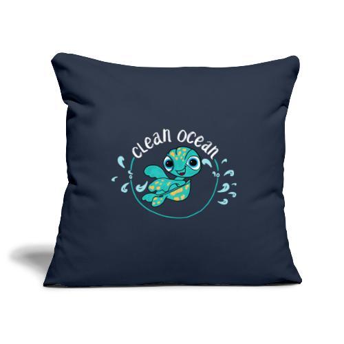 Clean Ocean - Sofa pillowcase 17,3'' x 17,3'' (45 x 45 cm)