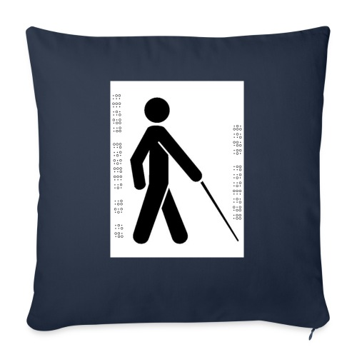 Blind T-Shirt - Sofa pillowcase 17,3'' x 17,3'' (45 x 45 cm)