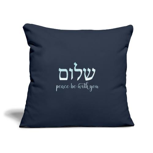 Helles Aquarell Shalom – Peace be with you - Sofakissenbezug 44 x 44 cm