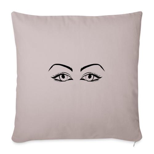 Womans eyes black - Housse de coussin décorative 45x 45cm