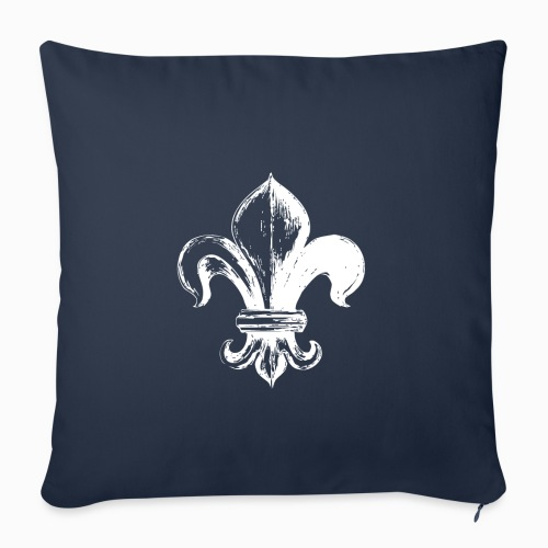 Lys Blanc - Housse de coussin décorative 45x 45cm