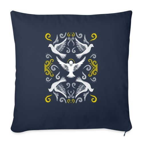 Doves Patterns - Sofa pillowcase 17,3'' x 17,3'' (45 x 45 cm)