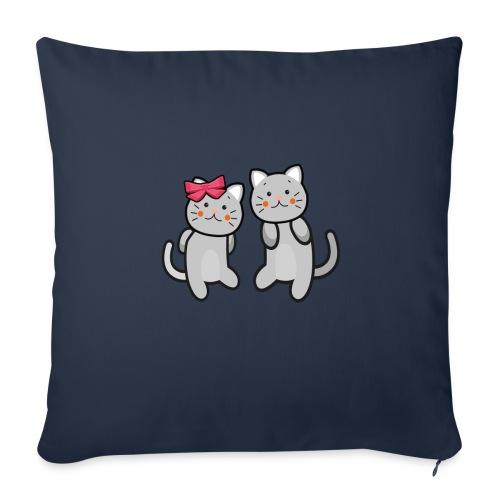 Kotki - Poszewka na poduszkę 45 x 45 cm
