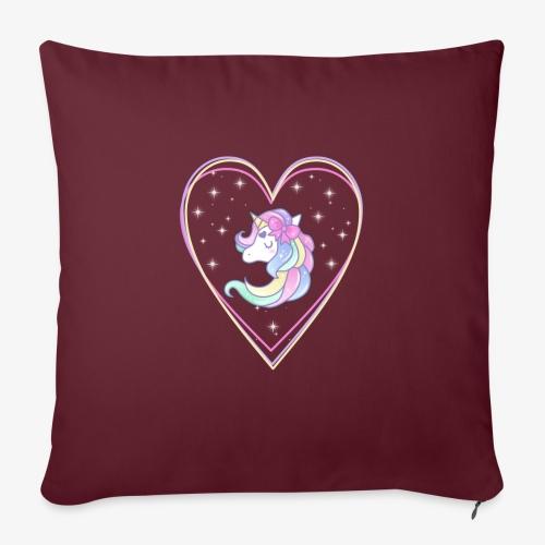 Unicorn - Copricuscino per divano, 45 x 45 cm