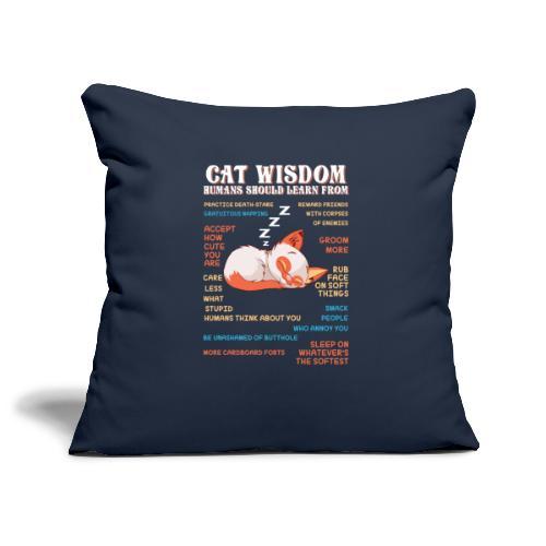 CAT WISDOM - Housse de coussin décorative 45x 45cm
