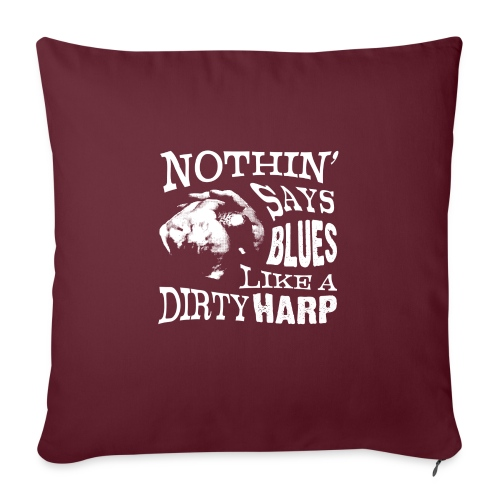 Nothin' Say Blues Like a Dirty Harp #2 - Sofa pillowcase 17,3'' x 17,3'' (45 x 45 cm)