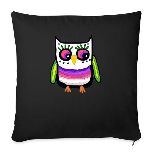 Colorful owl - Sofa pillowcase 17,3'' x 17,3'' (45 x 45 cm)