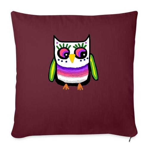 Colorful owl - Sofa pillowcase 17,3'' x 17,3'' (45 x 45 cm)